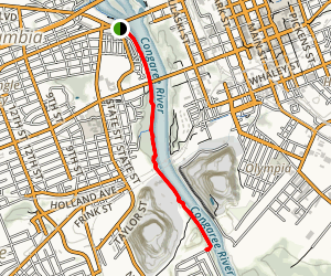 Three Rivers Greenway Trail Map
