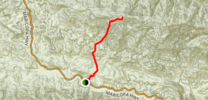 Chorro Grande Trail Map