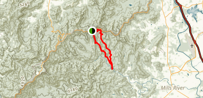 Trace Ridge and Wash Creek Loop Trail Map