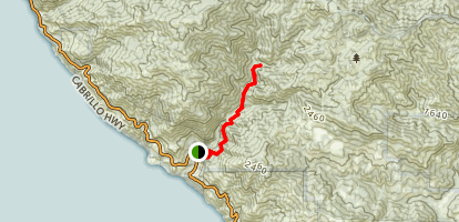 Salmon Creek Trail to Spruce and Estrella Camps Map
