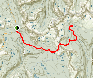 Ouray Lake Trail Map