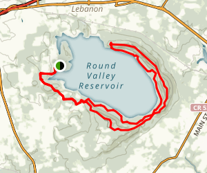 Round Valley Reservoir Trail Map