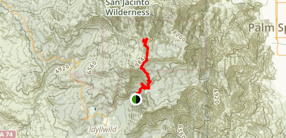 San Jacinto Peak (The Middle Way) Trail Map