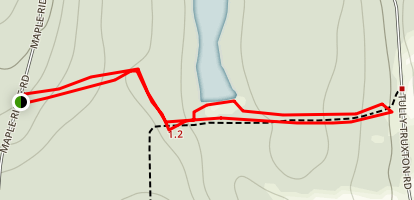 Heiberg Memorial Forest Trail Map
