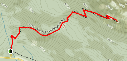 Castle Mountain Lookout Trail Map