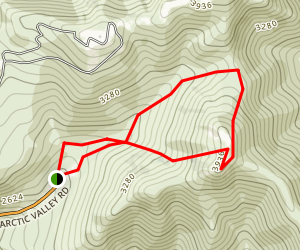 Rendezvous Peak Trail Map