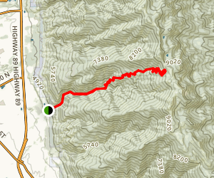 Bair Canyon Trail Map