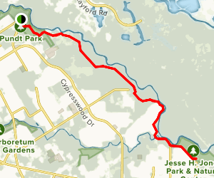 Spring Creek Trail from Pundt Park Map