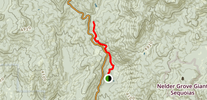 Lewis Creek National Scenic Trail to Corlley Falls and Red Rock Falls Map