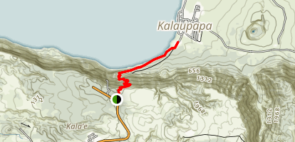 Molokai: Kalaupapa Trail Map
