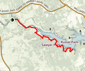 Tejas Trail  Map