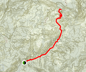 Twin Pillars Trail Map