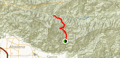 Shortcut Canyon Trail Map