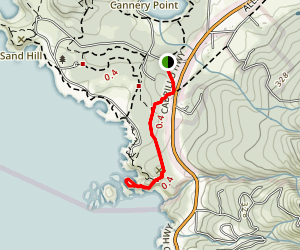 South Plateau Trail to Bird Island Map