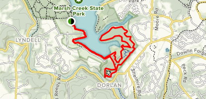 Marsh Creek Trail Map
