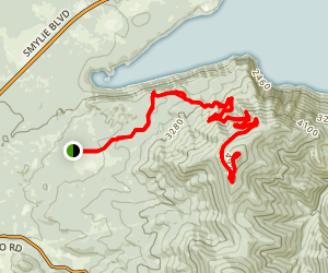 Bernard Peak Loop Map