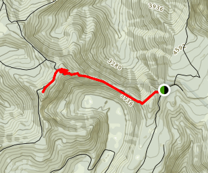 Squaw Mountain: East Trail Map