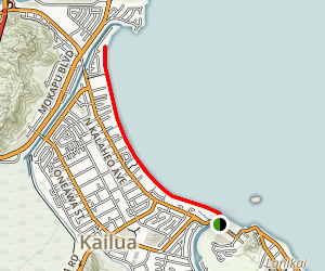 Kailua Bay Beach Walk Map