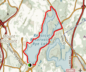 Kensico Reservoir Loop Map