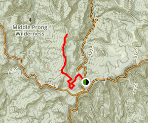 Green Knob Trail from MST Map