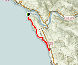 Goat Rock Beach to Harbor Seal Nursery Trail Map