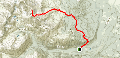 Mount Massive Trail (via South East) Map
