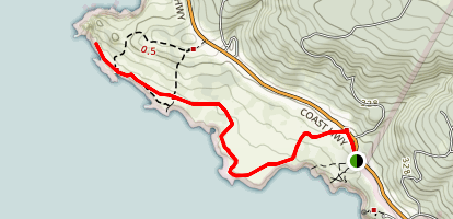 Fisk Mill Cove to Horseshoe Point Trail Map