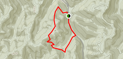 Rocky Ridge to Pigeon Roost Trail Loop Map