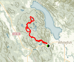 Whitefish Trail Map