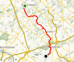 Wissahickon Green Ribbon Trail Map