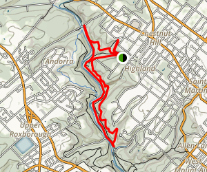 Wissahickon Gorge North Loop Map