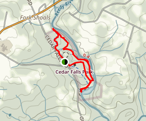 Cedar Falls Park Trail Map