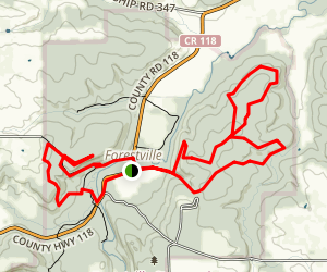 Forestville Trail Map