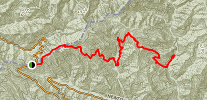Newfound Gap to Long Ridge Campsite  Map
