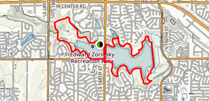 Zorinsky Lake Trail Full Loop Map