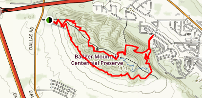 Badger Skyline Trail Map