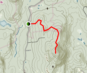 Lovewell Mountain via Monadnock-Sunapee Greenway Map