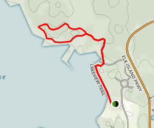 Astotin Lakeview Trail Map