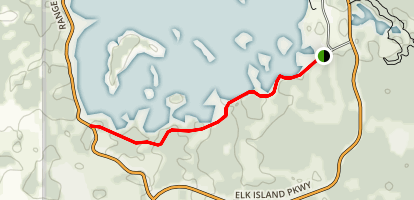 Astotin Lake Shoreline Trail Map