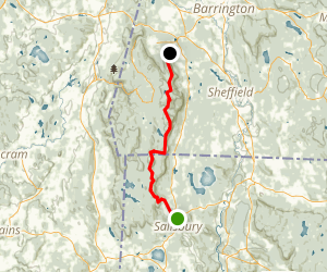 Appalachian Trail, Northwest Connecticut and Southwest Massachusetts Map