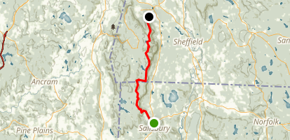 Appalachian Trail Salisbury To Jug End Road Connecticut Maps - Ct road map