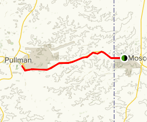 Bill Chipman Palouse Trail: Moscow to Pullman Map