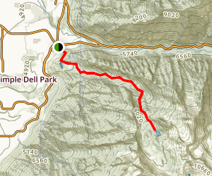 Upper Bell's Canyon Trail Map