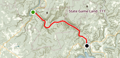 Youghiogheny River Trail - Ohiopyle to Confluence Map