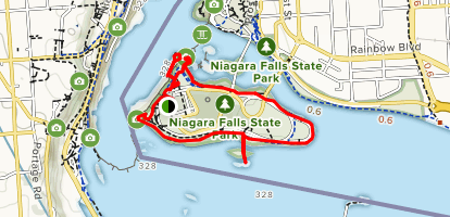 Goat Island Scenic Walk Map