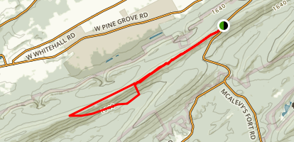 Mid-State Trail to Indian Steps Trail Map