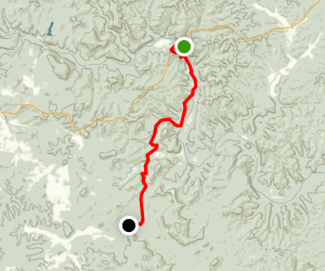 Powder Mills  to Rocky Falls Map