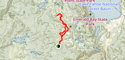 Maud, Lois, Zitella and Highland Lakes Loop Map