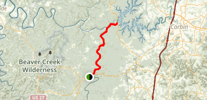 Sheltowee Trace Trail Map