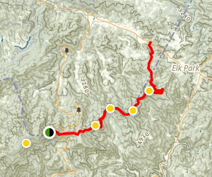 Appalachian Trail: Carvers Gap to US 19E Map
